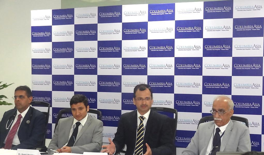 (From L-R) : Dr Mohit Khirbat, Dr Sumit Sharma, Mr Mahipal S Bhanot, Dr Sunil Singh