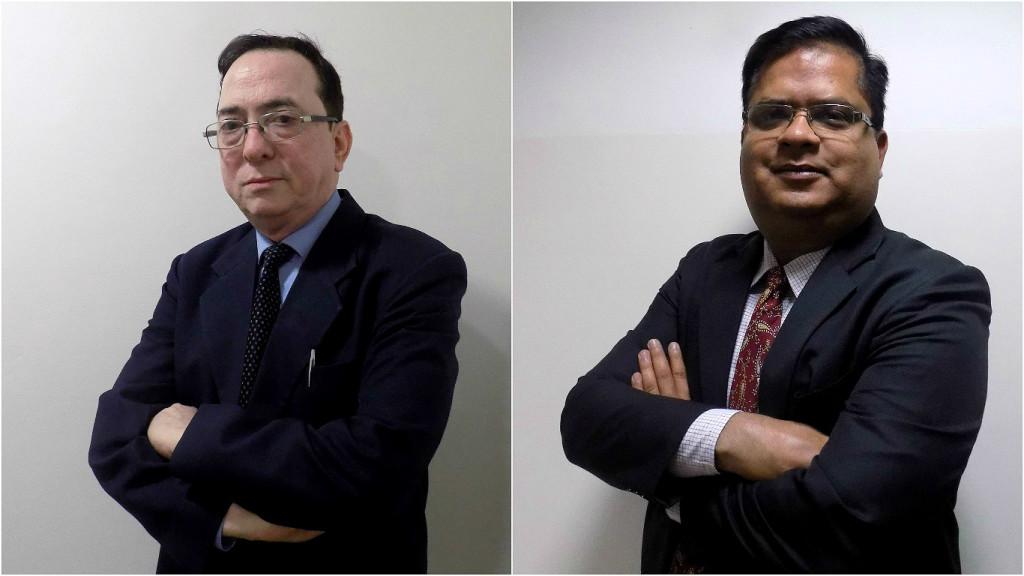 (L-R) Dr. Jatinder Kumar; Viresh Mina