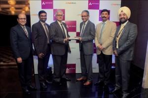 LtoR - Mr. Aashish Sethi, EVP & Member - EXCO, Partnerships, Mr. Srikanth K, Chief Financial Officer and Mr. Krishnan Ramachandran, Deputy Chief Executive Off