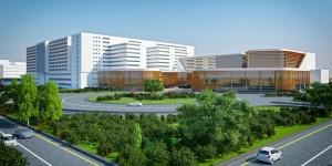 Amrita Hospital Faridabad Site Rendering