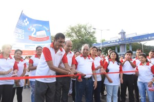 Sunshine Global Hospitals, Surat organised a health walk from Sardar Vallabhbhai National Institute of Technology to celebrate the second foundation day