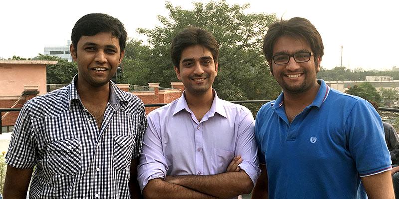 Curofy's founders (Mudit Vijayvergiya, Nipun Goyal & Pawan Gupta)