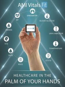 "AMI VitalsFitâ""¢ diagnose a set of 15 diseases & is portable"