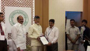 Chandrababu Naidu meeting Elets' official in Vizag city