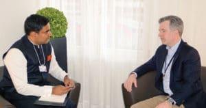 Nara Lokesh with the Vice President of PayPal, Richard Nash