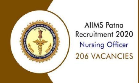 AIIMS Patna Nursing Officer Recruitment 2020
