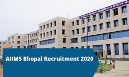 AIIMS Bhopal Recruitment 2020
