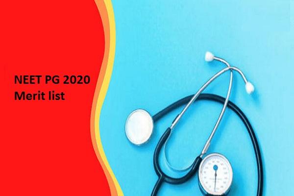 NEET PG 2020 Merit list