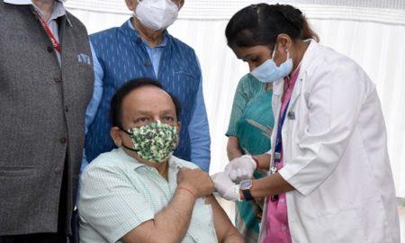 Dr Harsh Vardhan Receives Covid-19 Vaccine