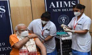 PM Modi takes Covid vaccine
