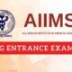 aiims pg entrance exam